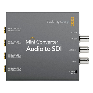BLACKMAGIC Mini Converter. Embebedor Audio a SDI.
