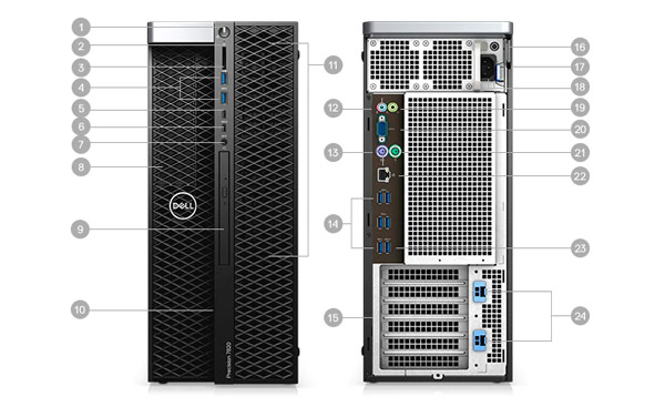 Dell-Precision-5820-Tower-puertos-y-ranuras
