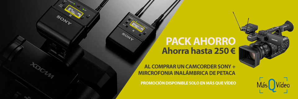 PROMO PACK AHORRO SONY CAMCORDERS + UVW-D21