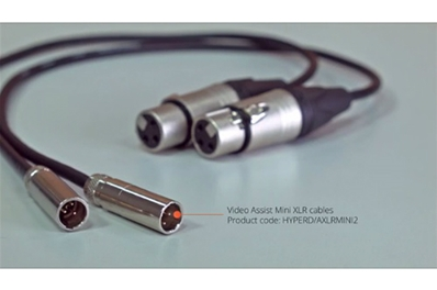 BLACKMAGIC Pareja cables Mini XLR para grabadores Video Assist 4K