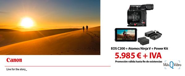 CANON EOS 200 Kit EOS C200 + ATOMOS NINJAV + POWER KIT