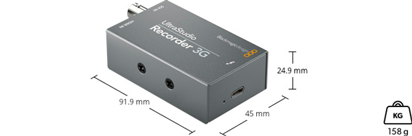 BLACKMAGIC UltraStudio-Recorder-3G-Especificaciones-fisicas