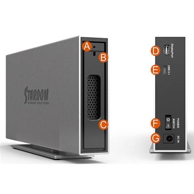 STARDOM Caja iTank, 1 Hdd y conex. USB-C 3.1/Display Port