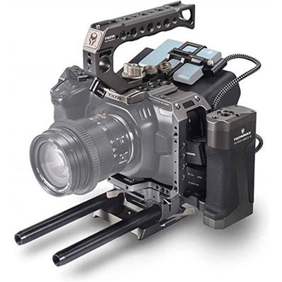 TILTA TA-T01-A-G Cage para Blackmagic Pocket 4K.
