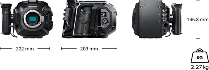 Blackmagic Design URSA Mini Pro 4.6K - ESPECIFICACIONES FISICAS
