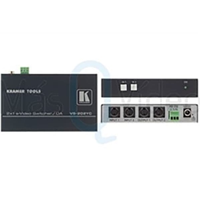 KRAMER VS-202YC Selector s-Video 2x1:2 / Distribuidor Amplificador.