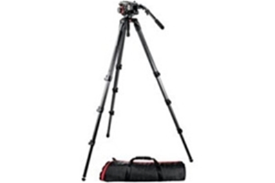 MANFROTTO 504HD 536K Kit: rótula 504HD, trípode de fibra de carbono