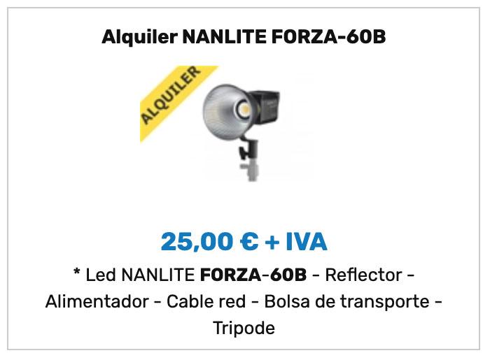 Alquiler Nanlite Forza 60B