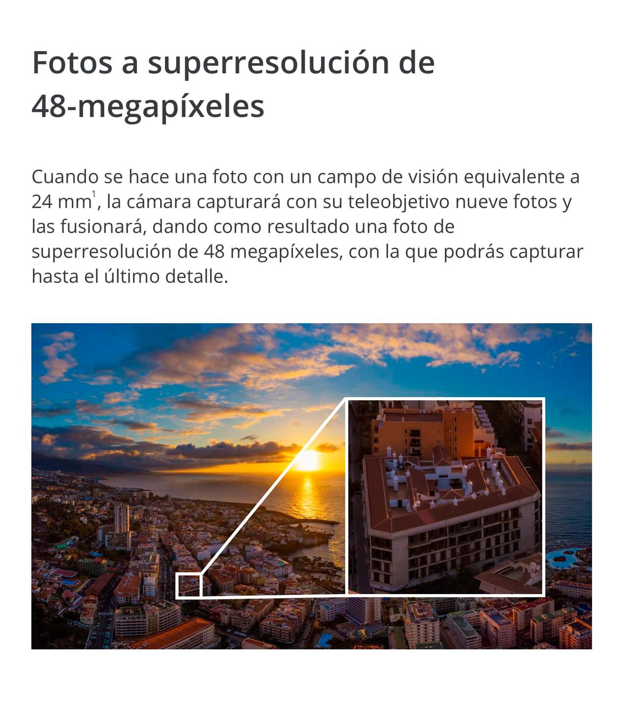 DJI MAVIC 2 PRO - Fotos a superresolución de 48 megapíxeles