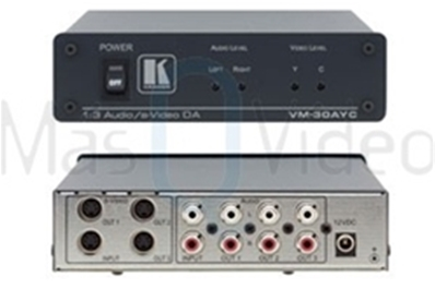 KRAMER VM-30AYC Distribuidor Amplificador 1:3 s-Video (Y/C) y Audio
