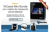 NEWTEK Bundle Tricaster Mini HD4i +Control Surface+Maleta de prot