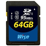 WISE WI-SD1-64U3 Wise. Tarjeta SD 64GB -Max Read/Write -90MB/s-...