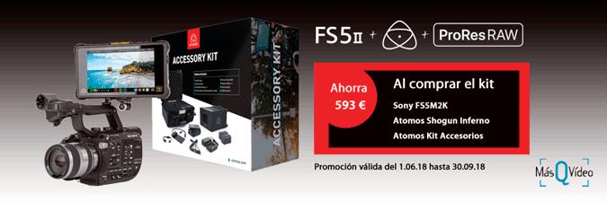 KIT SONY PXW-FS5M2K + ATOMOS + PRORES RAW
