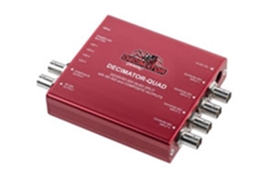 DECIMATOR DESIGN 3G/HD/SD-SDI Quad Split a Outs SD-SDI y VComp.