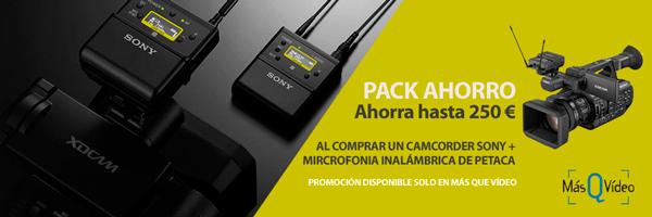PACK AHORRO CAMCORDER SONY + MICROFONIA INALÁMBRICA DE PETACA