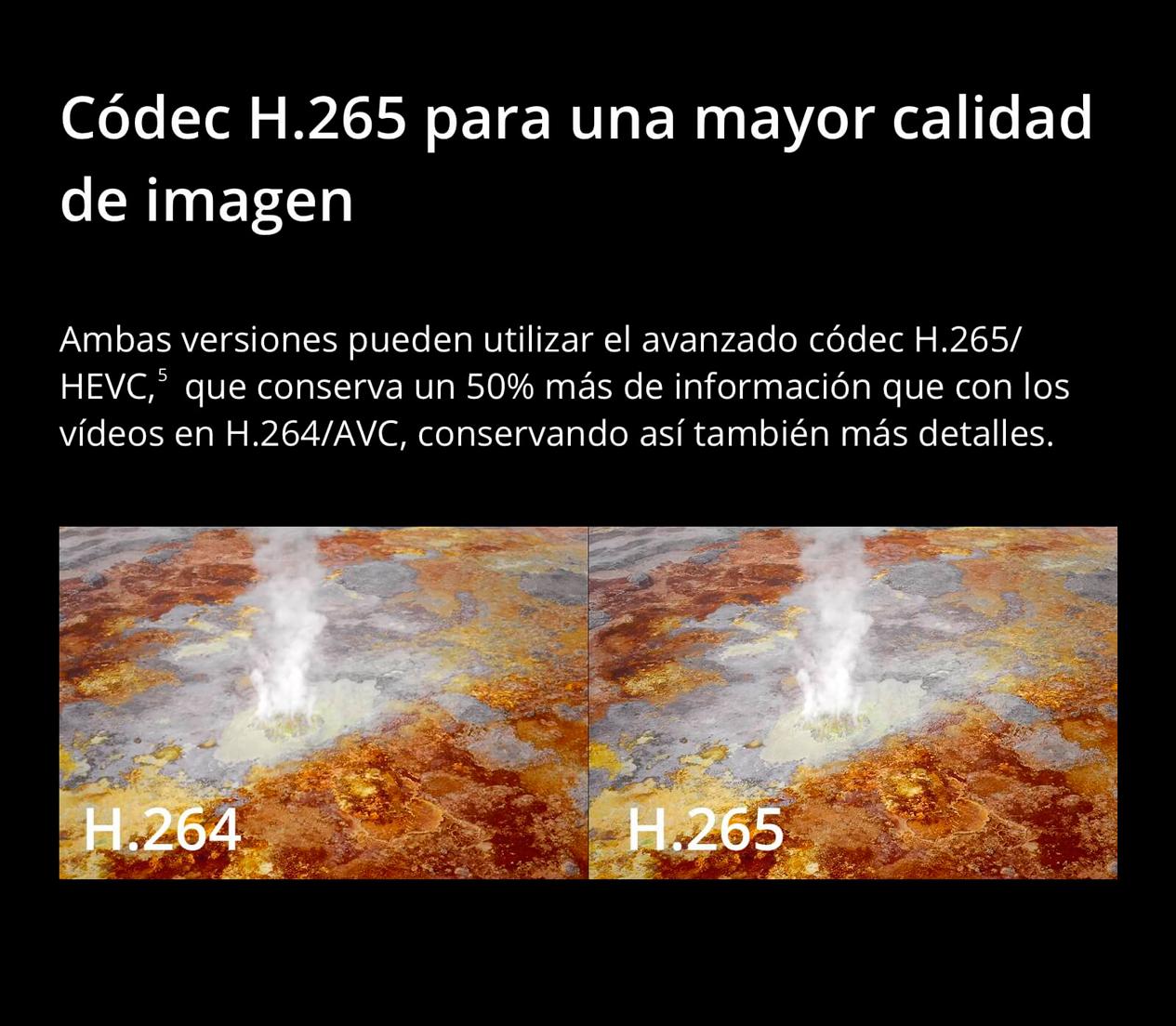 DJI MAVIC 2 PRO - Códec H.265 para una mayor calidad de imagen