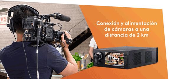 BLACKMAGIC STUDIO FIBER CONVERTER - CONEXION Y ALIMENTACION DE CAMARAS MEDIANTE UN SOLO CABLE SMPTE DE FIBRA OPTICA