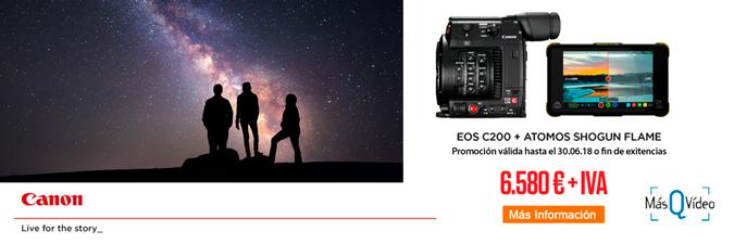 CANON EOS C200 + ATOMOS SHOGUN FLAME PROMOCIÓN