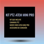 MQV KIT 3 cámaras PTZ+mixer Atem Mini Pro...