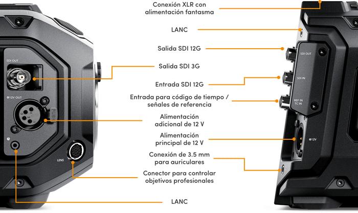 Blackmagic Design URSA Mini Pro 4.6K - CONEXIONES