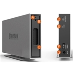 STARDOM Caja iTank, 1 Hdd y conex. USB-C 3.1/Display Port...
