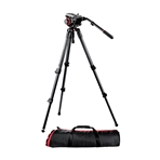 MANFROTTO 504HD 546GBK Kit: rótula 504HD, trípode 546GBK y bolsa.