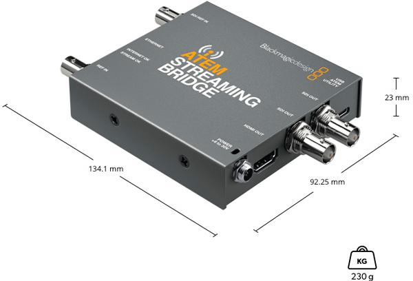 Atem-Streaming-Bridge Especificaciones físicas