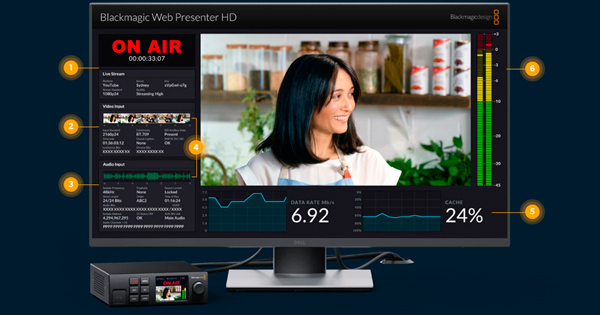 BLACKMAGIC WEB PRESENTER HD - SUPERVISIÓN TÉCNICA INTEGRADA