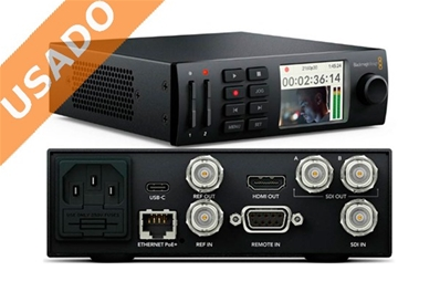 BLACKMAGIC HyperDeck Studio Mini. Grabador HD-4K en tarjetas SD.