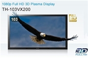 "PANASONIC TH-103VX200E Pantalla Plasma de 103"" Full HD 3D."