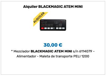 Alquiler ATEM Mini