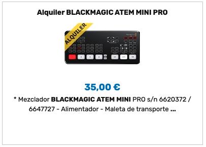 Alquiler ATEM Mini Pro