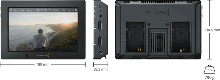 Blackmagic Design Video Assist 4K - especificaciones físicas