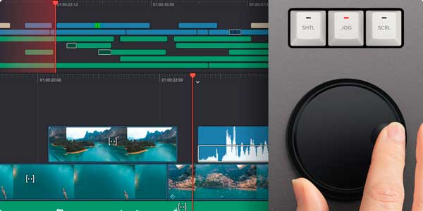 DaVinci-Resolve-Editor-Keyboard-mando-giratorio