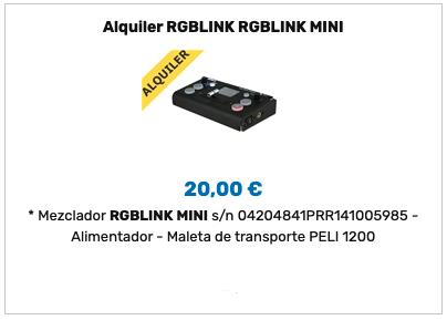 Alquiler RGBlink mini